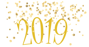 New Year, 2019, Sparkles, Yellow